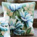 Vervaco Japanese Anemone Cushion Cross Stitch Kit