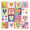 Stitching Shed Love Hearts Cross Stitch Kit