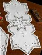 Permin Star Point Long Runner Embroidery Kit