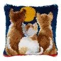 Vervaco Cats at Night Cushion Latch Hook Kit