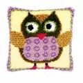 Vervaco Miss Owl Cushion Latch Hook Kit