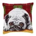 Vervaco Pug Cushion Cross Stitch Kit