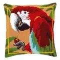Vervaco Red Macaw Cushion Cross Stitch Kit