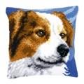 Vervaco Brown Collie Cushion Cross Stitch Kit