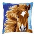 Vervaco Brown Horse Cushion Cross Stitch Kit