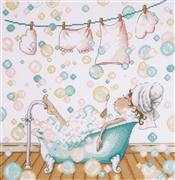 Design Works Crafts Blowing Bubbles Cross Stitch Kit