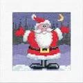 Heritage Santa Christmas Card Making Cross Stitch Kit