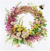 RIOLIS Wreath with Fireweed Floral Cross Stitch Kit