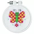 Janlynn Checky Butterfly Cross Stitch Kit