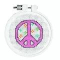 Janlynn Peace Sign Cross Stitch Kit