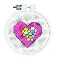 Janlynn Heart Cross Stitch Kit