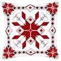 Vervaco Snow Crystal Cushion Christmas Cross Stitch Kit