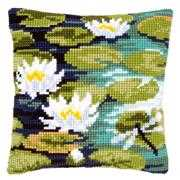Vervaco Water Lilies Cushion Floral Cross Stitch Kit