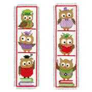Vervaco Clever Owls Bookmarks (2) Cross Stitch Kit
