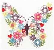 Bothy Threads Butterfly Bouquet Floral Cross Stitch Kit