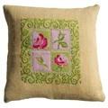 Anette Eriksson Cottage Chic Value Cushion Front Floral Cross Stitch Kit
