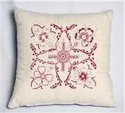 Anette Eriksson Red Floral Premium Cushion Kit Embroidery