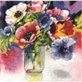 Design Works Crafts Watercolour Anemones Cross Stitch Kit