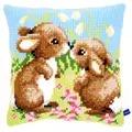 Vervaco Little Rabbits Cushion Cross Stitch Kit