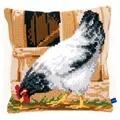 Vervaco Grey Hen Cushion Cross Stitch Kit