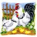 Vervaco Chicken Family Cushion Latch Hook Kit