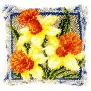 Vervaco Daffodils Cushion Floral Latch Hook Kit