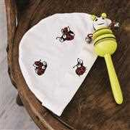Permin Ladybugs Soluble Canvas Kit Cross Stitch