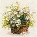 RIOLIS Russian Daisies Floral Cross Stitch Kit