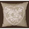 Design Works Crafts Heart Candlewick Pillow Wedding Sampler Embroidery Kit