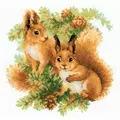 RIOLIS Squirrels Cross Stitch Kit