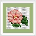 Luca-S Pink Flower Mini Kit Floral Cross Stitch