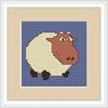 Luca-S White Sheep Mini Kit Cross Stitch