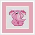 Luca-S Pink Elephant Mini Kit Cross Stitch