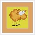 Luca-S Comic Sheep Mini Kit Cross Stitch