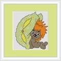 Luca-S Hedgehog Mini Kit Cross Stitch