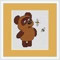 Luca-S Bear and Bee Mini Kit Cross Stitch