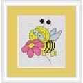 Luca-S Bee Mini Kit Cross Stitch