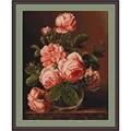 Luca-S Vase of Roses Cross Stitch Kit