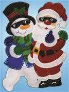 Design Works Crafts Cool Dudes Wall Hanging Christmas Craft Kit