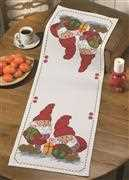Permin Elves and Presents Runner Christmas Cross Stitch Kit