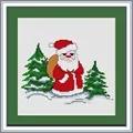 Luca-S Santa Claus Christmas Cross Stitch Kit