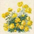 RIOLIS Globe Flower Floral Cross Stitch Kit