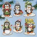 Design Works Crafts Penguin Ornaments Christmas Cross Stitch Kit