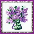 RIOLIS Lilacs Floral Cross Stitch Kit