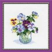 RIOLIS Bunch of Pansies Floral Cross Stitch Kit