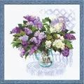 RIOLIS Lilac Bouquet Floral Cross Stitch Kit