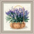 RIOLIS French Lavender Floral Cross Stitch Kit