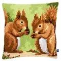 Vervaco Squirrels Cushion Cross Stitch Kit