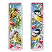 Vervaco Birds in Winter Bookmarks Christmas Cross Stitch Kit