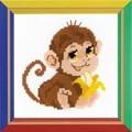 RIOLIS Happy Bee Monkey Cross Stitch Kit